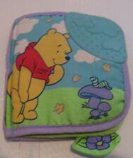 Rare Vtg Disney Winnie The Pooh Fabric Soft Book Developmental Baby Toddler Toy