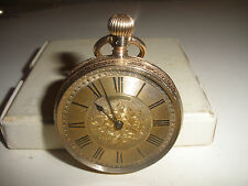 Antique 1883 Royal Waltham 10k gold pocket watch  8s  running fine