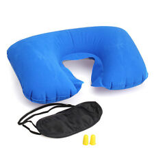 Camp Travel Essential Inflatable Pillow Patch Earplug Fashion Multifunction New