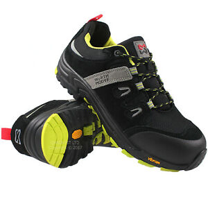 MENS VIBRAM SAFETY BOOTS COMPOSITE TOE CAP HIKING WORK BOOTS HIKER SHOES LADIES