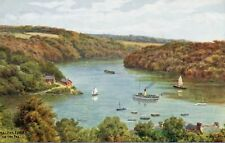 MALPAS FERRY ON THE FALL * A.P. QUINTON ART * 2323* LOVELY VINTAGE VIEW (E42)