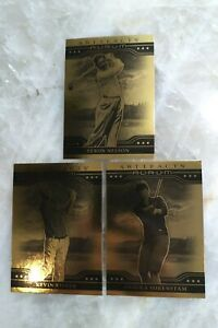 2021 Upper Deck Artifacts Golf - Gold Aurum - 3 Cards - Nelson Sorenstam Kisner