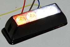 852 Amber And White LED Emergency Strobe light lightbar flashing Yellow Clear