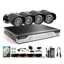 Zmodo 4Channel Security Camera System DVR & 4 x 700TVL Analog Cameras with 500GB