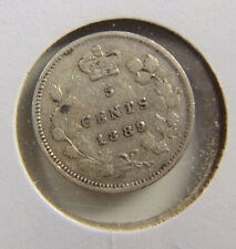 1889 Canada - 5 cents SILVER coin - Graded VF