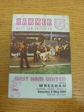 02/05/1981 West Ham United v Wrexham  (Faint Marks). Bobfrankandelvis the seller