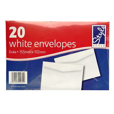 White Duke Writing White Envelopes - Pack of 20 - Size 153mm x 102mm - by Office