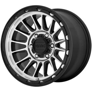 "KMC KM542 Impact 17x8 6x5.5"" +20mm Black/Machined Wheel Rim 17"" Inch"