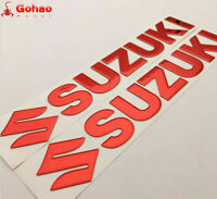 "10"" Tank Badges Fairing Emblem Decal Sticker for SUZUKI Racing Motorcycle Bikes"