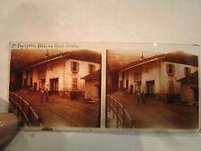 ancien plaque verre stereo photo 1930 ste foy hotel du mont iseran animé 73 30