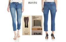 KENSIE $78 NEW Flare Crop Capri Blue Jeans 28 L25 QCO