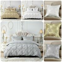 New Luxury 3Piece Glitter Quilt Duvet Cover Set Pillow Case Double King S-K size