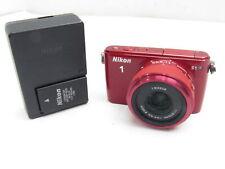 Nikon 1 S1 10.1 MP HD Digital Camera with 11-27.5mm 1 NIKKOR Lens (Red)