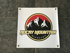 Rocky Mountain banner sign wall garage bike bicycles suspension downhill MTB