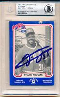 1987 Pan Am Frank Thomas Blue Rookie Autographed HOF Rookie Card Beckett