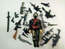 "3.75"" Gi Joe Black  Ninja #01 With 5pcs Accessories Rare Figure Gift"
