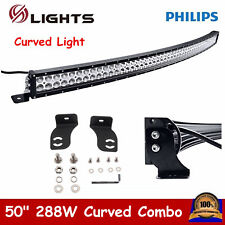 50inch 288W Curved LED Light Bar Combo Off-road Driving Lamp Jeep Ford Philips