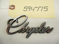 Vintage Chrysler Script Emblem Badge