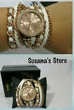NWT BEBE Multi Strand Chain Watch! OMG Gorgeous timeless piece!  Msrp$51.00+