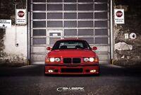 schwarz glänzende Nieren Frontgrill 3er BMW E36 Limousine VFL M3 salberk 3601