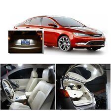 For Chrysler 200 2015-2016 Xenon White LED Interior kit +White License Light LED