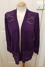 ladies PER UNA purple cardigan size 16 sheer sparkle panels