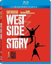 WEST SIDE STORY BLU RAY + DVD Great Gift- Brand New- Fast Ship! (HMV-097/HMV-14)
