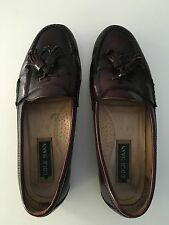 Cole Haan Men's Pinch Tassel Brown Burgundy Leather Loafers Size 9 D Shoes