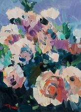 JOSE TRUJILLO Oil Painting IMPRESSIONISM FLOWERS FLORAL CONTEMPORARY ARTIST NR