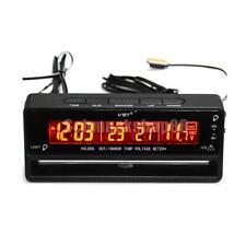 LCD Digital Auto KFZ Uhr Thermometer Temperatur Spannung Datum Anzeige 04