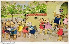 Teddy, Teddybärenschule, sign. Fritz Baumgarten, 1947