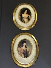 Collection (2) Vintage Italian Florentine Wall Plaques~Pictures Gold Gilt Wood R
