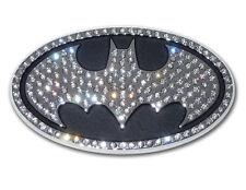 Batman Oval with Austrian Crystals - Chrome Auto Emblem