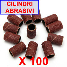 Ricambio Abrasivi Scovolini 100 pz Fresa Unghie Nail Art Grit Lima media ic