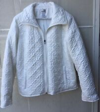 Chico's Women's Quilted White Jacket size 2 Fitted