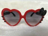 Lunettes de soleil solaires uv400 enfants coeurs rouges moustaches chat noeud