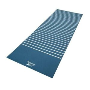 Reebok Double Sided Yoga Mat Reversible Exercise Gym Workout - Green Stripes