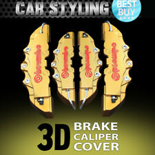 Hot 4pcs Gold Disc Brake Caliper Covers Kit 3D Styling Front & Rear For Jeep