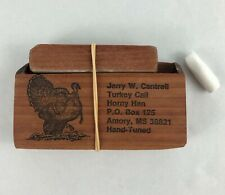 Jerry W Cantrell Turkey Call Horny Hen Armory Ms Wood Box w Striker Hand Tuned