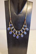 Necklace Blue Lapis Kuchi 2 Strand Pendant Oval Necklace