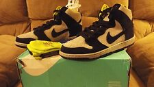 NIKE DUNK HIGH PRO SB SZ 10.5 BLACK BASE GREY VENOM GREEN NEON VOLT 305050 017