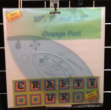 "Orange Peel 10"" 5"" & 2.5"" Template Set (layer Cake Charm Pack & Mini charm)"