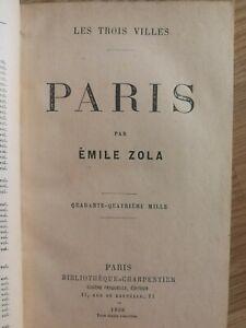 Rare Emile Zola - Paris 1898, Edition original