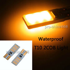 2X Yellow Amber Led 2Cob T10 194 168 W5W Light Bulbs Replacement Bulb 2825 921