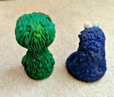 VINTAGE LOT of 2 Sesame Street Muppets  OSCAR & COOKIE MONSTER Finger Puppets
