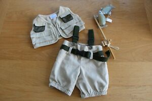 Build A Bear Fishing Outfit - Gilet, Waders And Fishing Rod With Fish