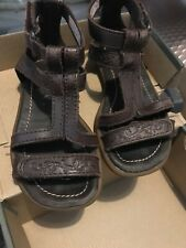 Girls Timberland Leather Gladiator Sandals Size 6.5