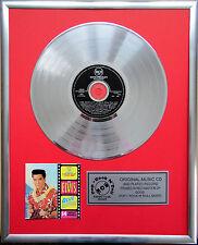 """Elvis Presley Blue Hawaii CD/Cover gerahmt +12""""Deko goldene Vinyl Schallplatte"""