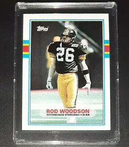 1989 Topps #323 ROD WOODSON Rookie Card Pittsburgh Steelers
