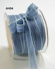 MAY ARTS RIBBONS~MESH RIBBON~DENIM BLUES~5/8THS INCH WIDE~SOLD BY THE YARD!